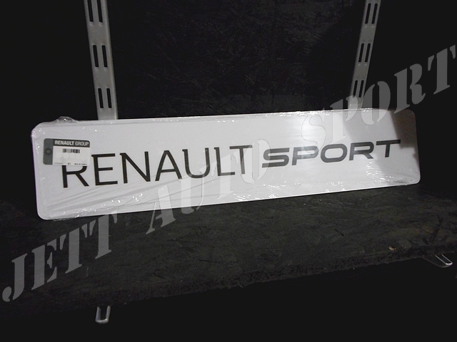 cache plaque d 39 immatriculation renault sport. Black Bedroom Furniture Sets. Home Design Ideas