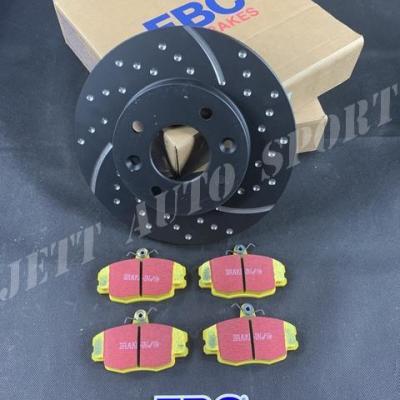 Disques avants EBC Turbo Grooved et plaquettes Yellowstuff Gtt / R11 T (kit complet)