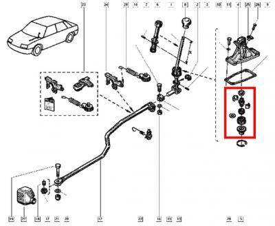 kit r fection levier de boite de vitesse gt turbo et clio 16. Black Bedroom Furniture Sets. Home Design Ideas