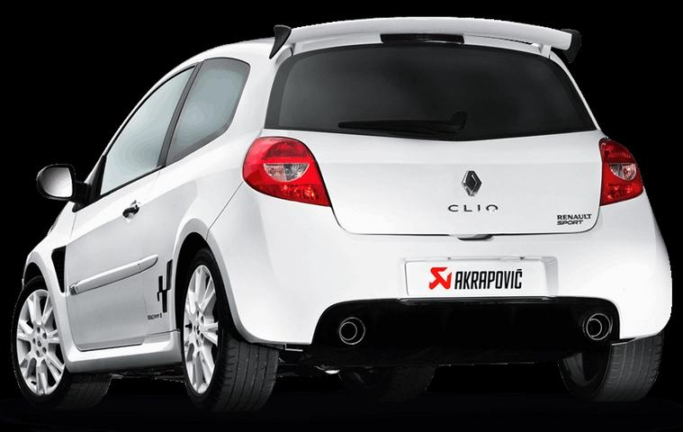 silencieux akrapovic slip on pour renault clio 3 rs. Black Bedroom Furniture Sets. Home Design Ideas