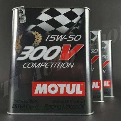 Huile moteur Motul 300V 15W50 Compétition (pack 6litres)