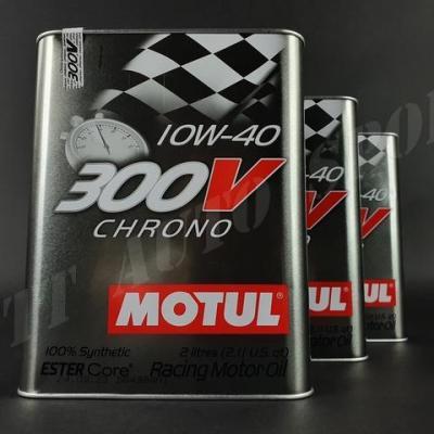 Huile moteur Motul 300V Chrono 10W40 (pack 6litres)