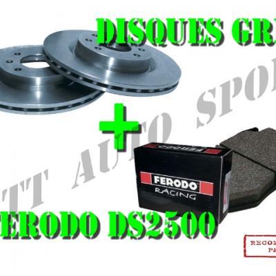Disques avants GrN + plaquettes DS2500 Gtt / R11 T