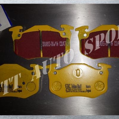 Plaquettes arrières EBC YellowStuff Gtt / R11T / Clio 16 / CRS II